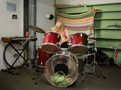 AmyPlayingtheDrums
